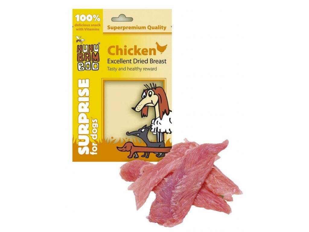 Huhubamboo Excellent - Sušená kuřecí prsa 75g