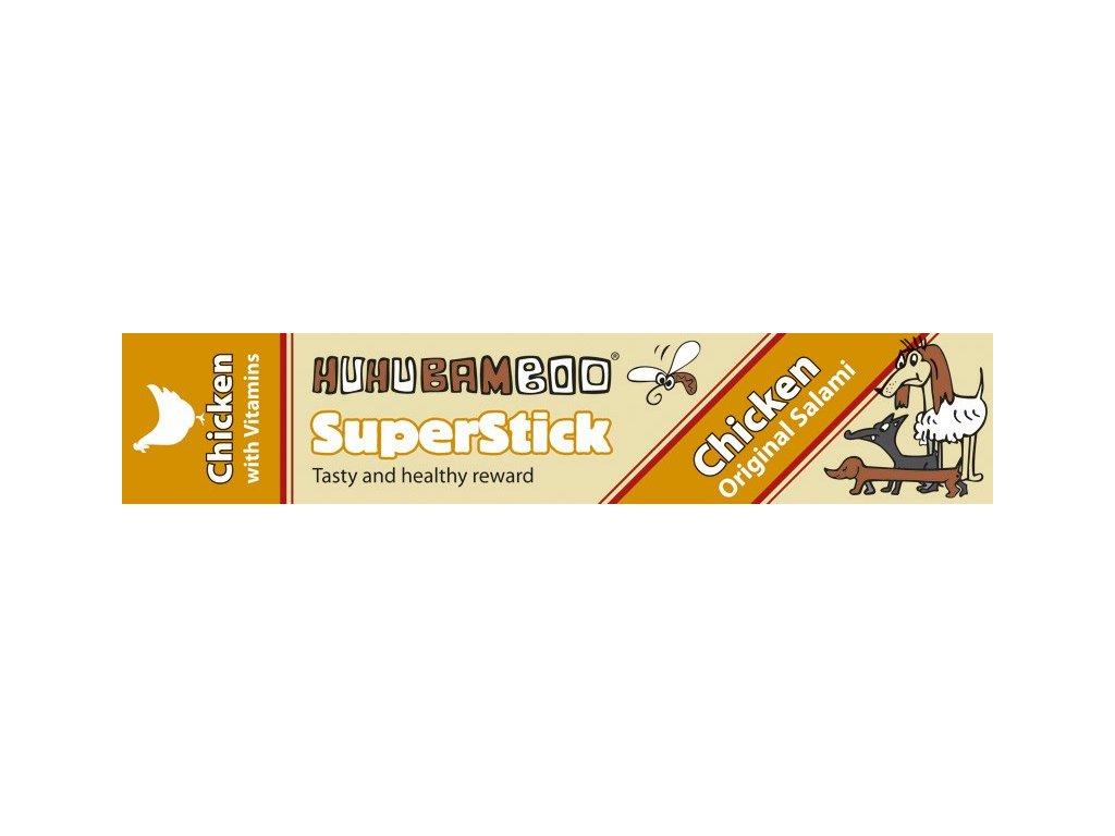 Huhubamboo Superstick - Kuřecí salám 12g
