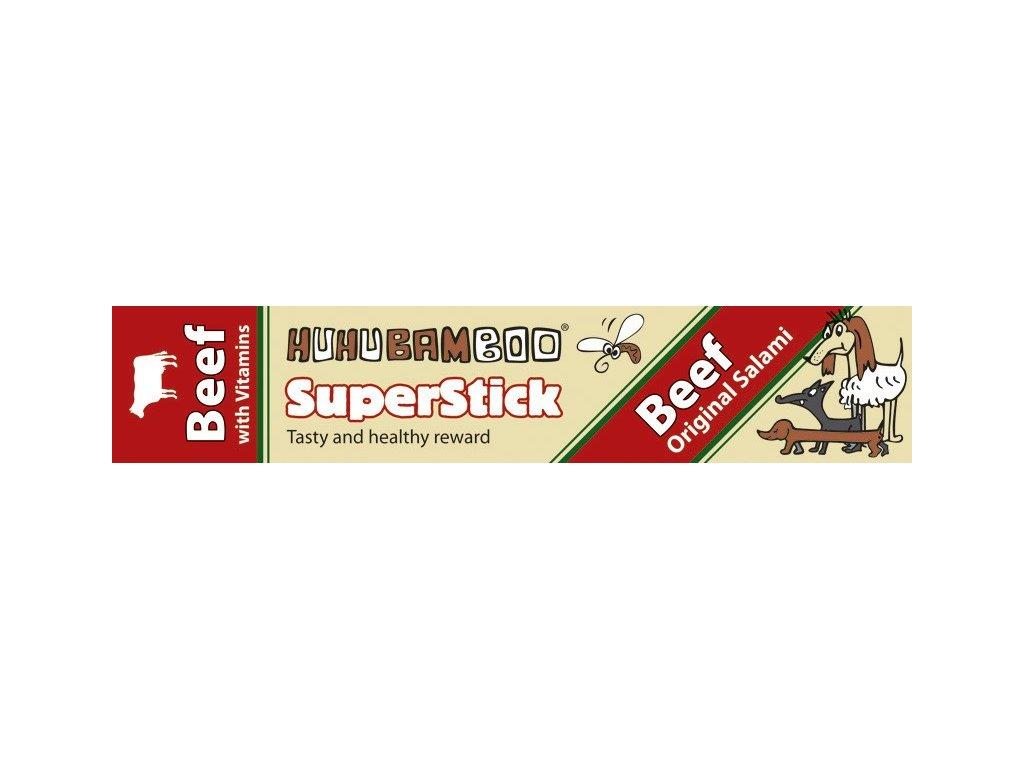 Huhubamboo Superstick - Hovězí salám 12g