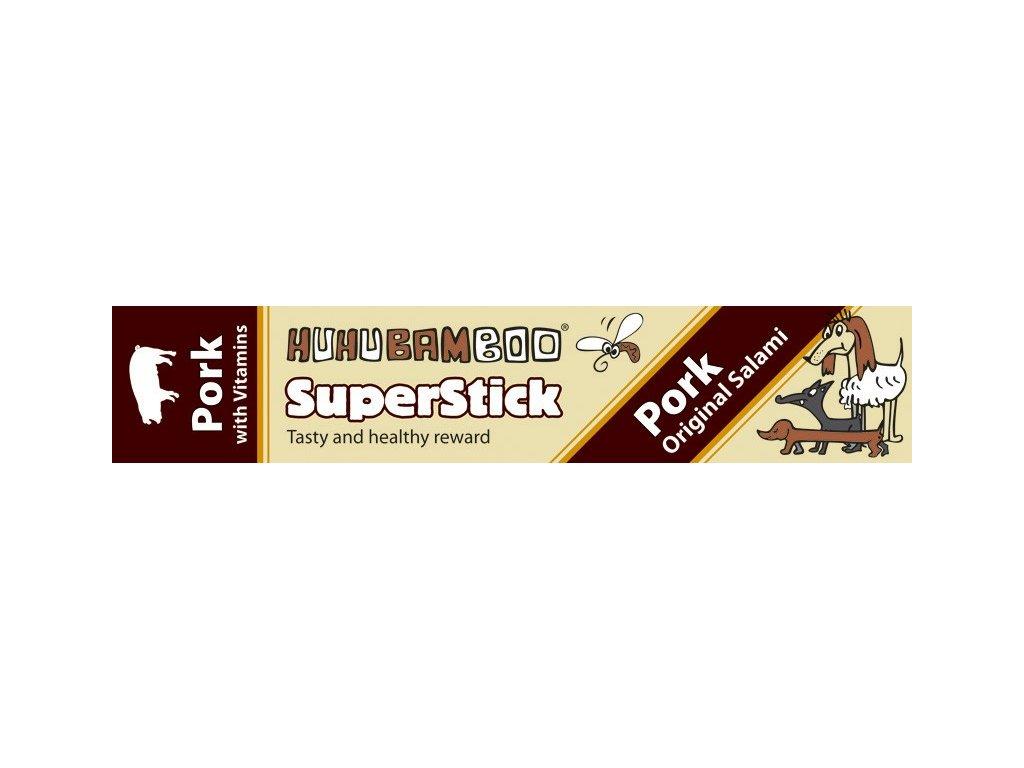 Huhubamboo Superstick - Vepřový salám 12g