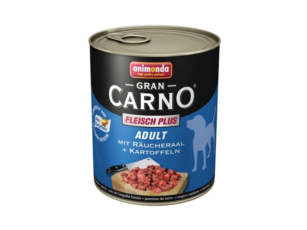 Animonda GranCarno Adult konzerva pro psy uzený úhoř+brambory 400g