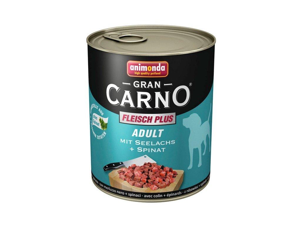 Animonda GranCarno Adult konzerva pro psy losos+špěnát 400g