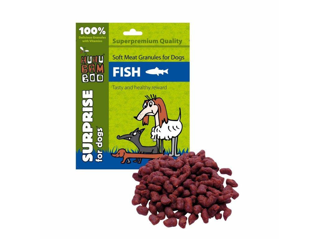 Huhubamboo Daily Soft Dog - Měkké granule - rybí 300g