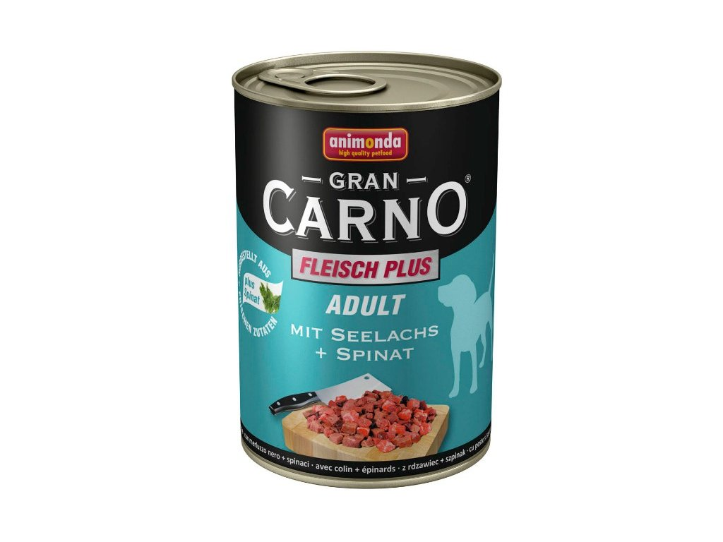 Animonda GranCarno Adult konzerva pro psy losos+špěnát 800g