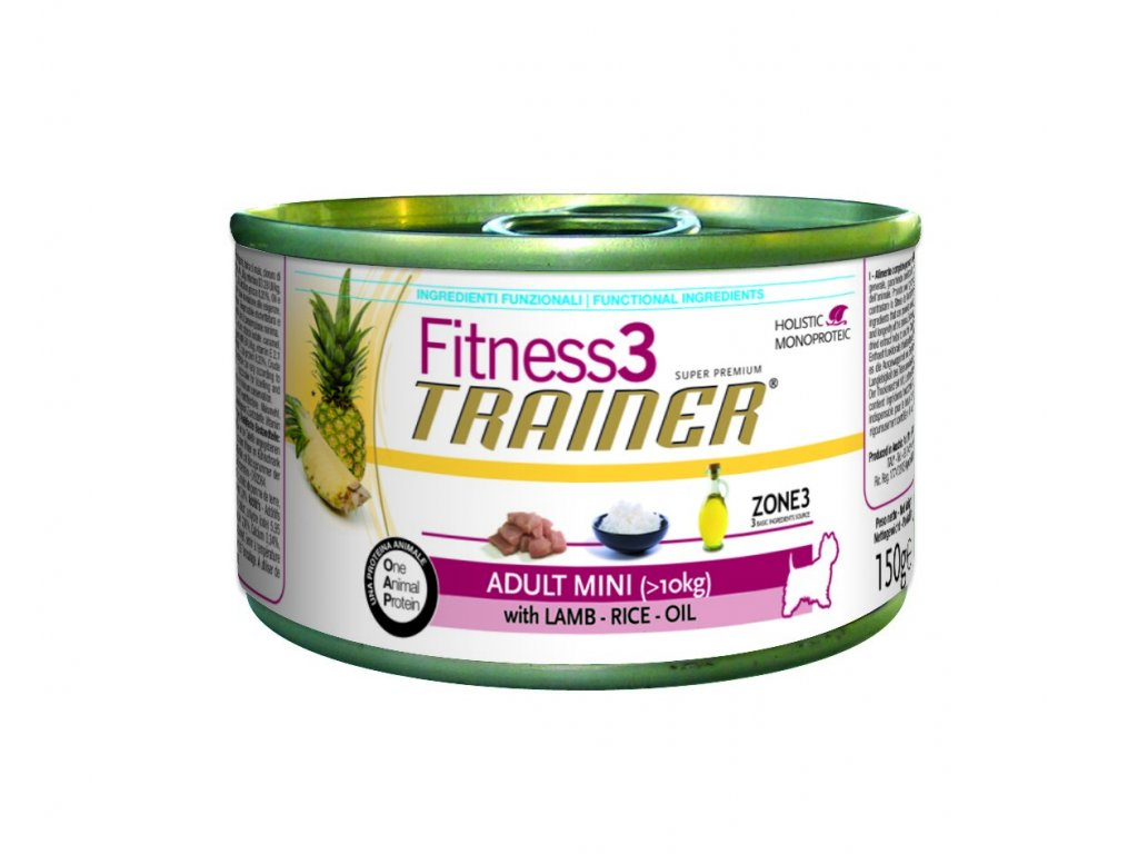 Trainer Fitness3 Adult Mini jehně+rýže konzerva 150g