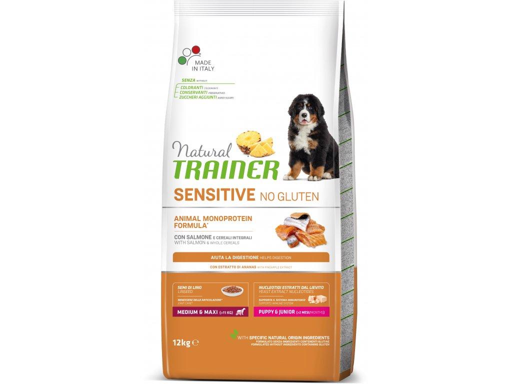 Trainer Natural Sensitive No Gluten Puppy&Jun M/M losos 12kg