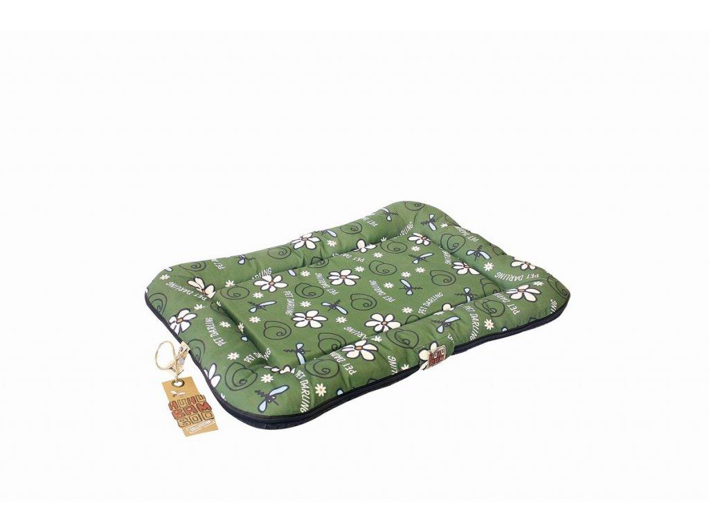 Huhubamboo polštář khaki šnek M 75cm
