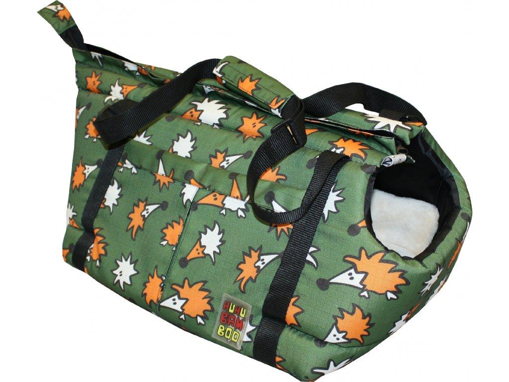 Huhubamboo taška khaki ježek S