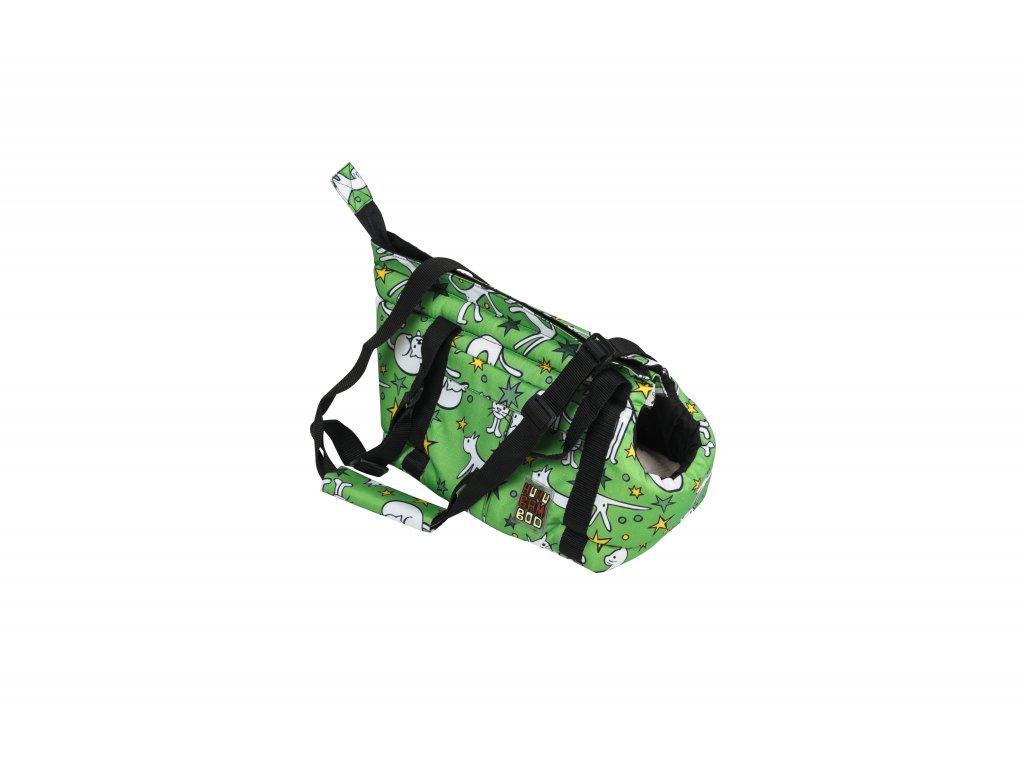 Huhubamboo taška zelená kočka S
