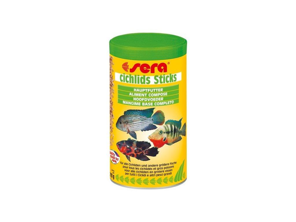 Sera základní krmivo pro středně velké a velké cichlidy Cichlids Stick 1000ml