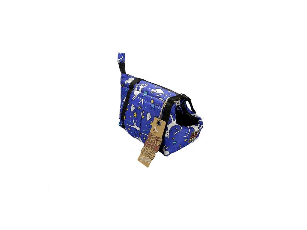Huhubamboo taška modrá kočka S