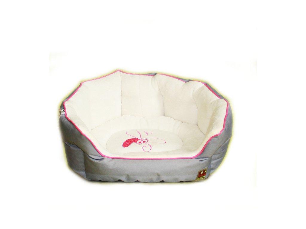 Huhubamboo pelech Lux šedá+růžová XL 67 cm
