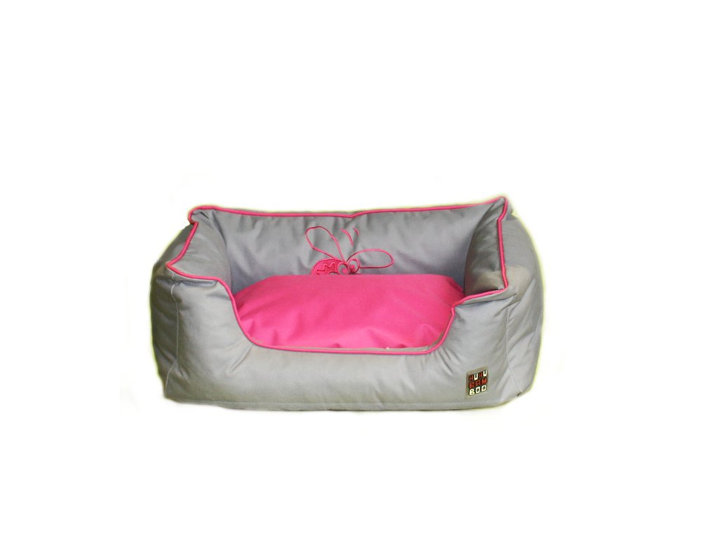 Huhubamboo pelech šedá+růžová M 65cm
