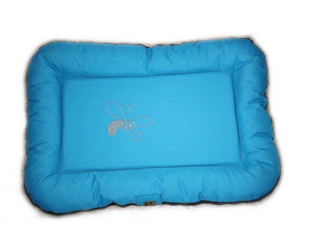 Huhubamboo polštář modrá+šedá S 65cm
