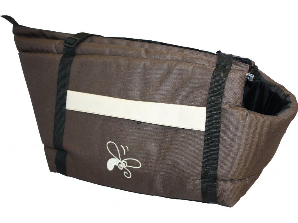 Huhubamboo taška hnědá+béžová M