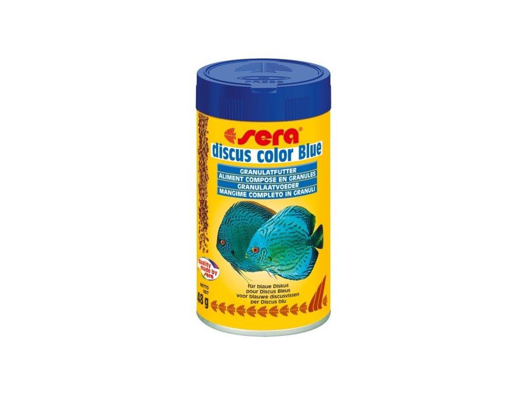 Sera doplňkové krmivo pro terčovce a jiné náročné ryby Discus Color Blue 100ml