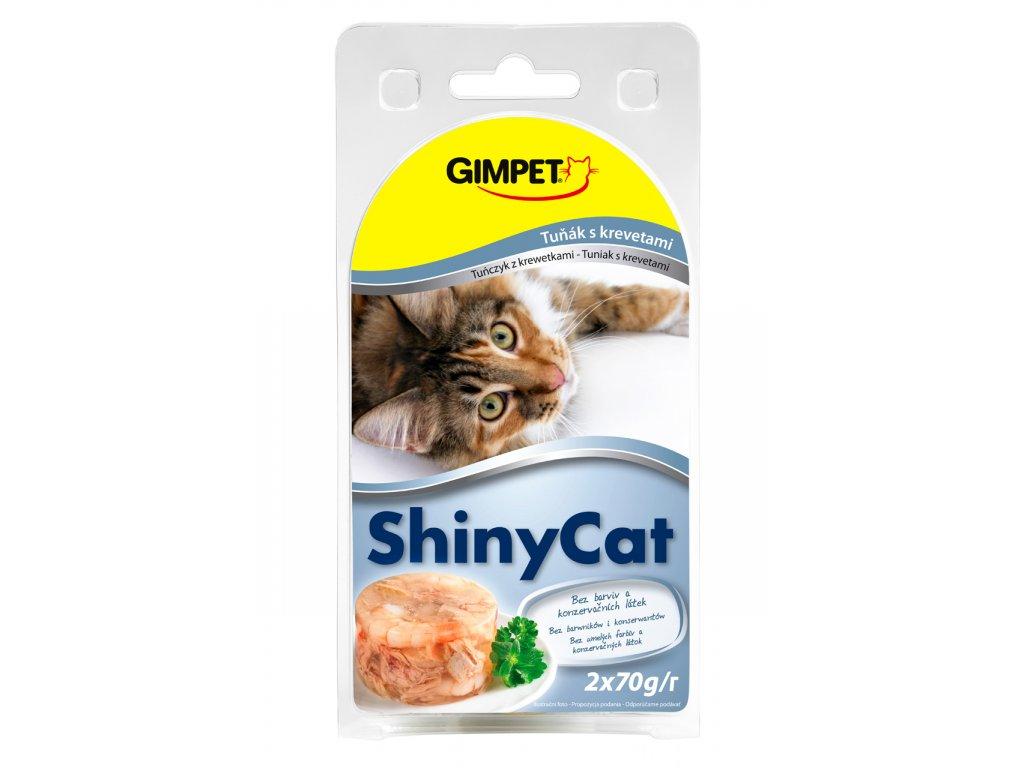 ShinyCat konzerva tuňák+krevety 2x70g