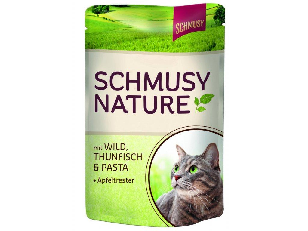 Finnern Schmusy Nature kapsička tuňák+zvěřina+těstoviny 100g