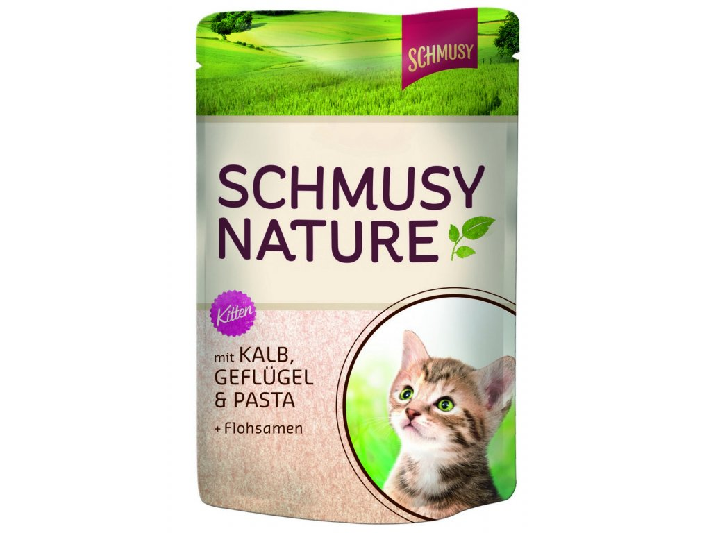 Finnern Schmusy Nature Kitten telecí+drůbež 100g