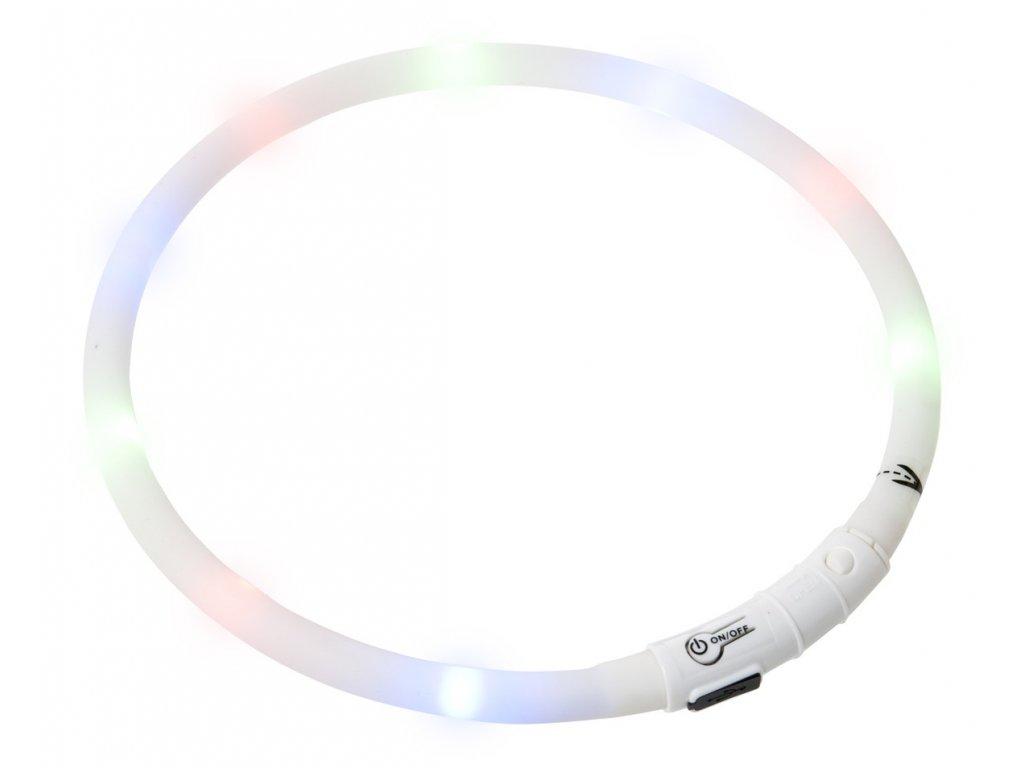 Karlie Visiolight svíticí LED obojek pro psy 70cm bílý