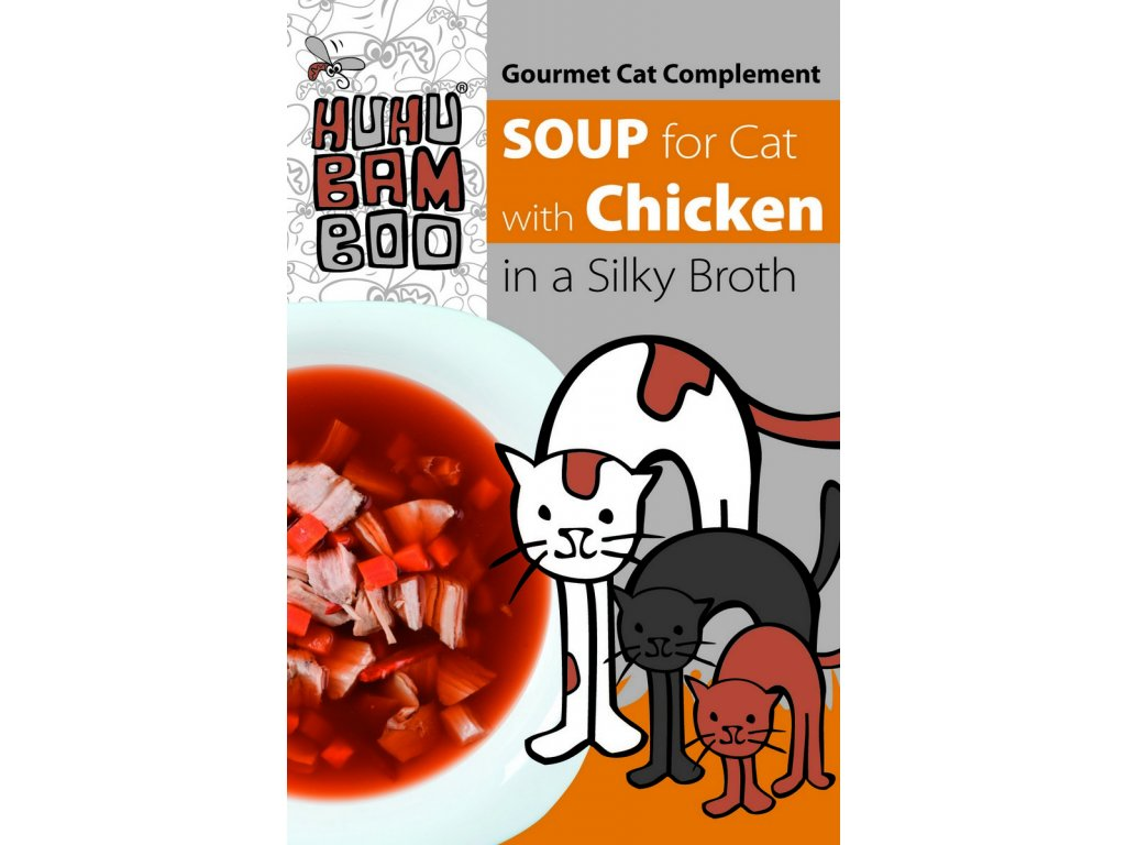 Huhubamboo polévka kuřecí pro kočky 40g