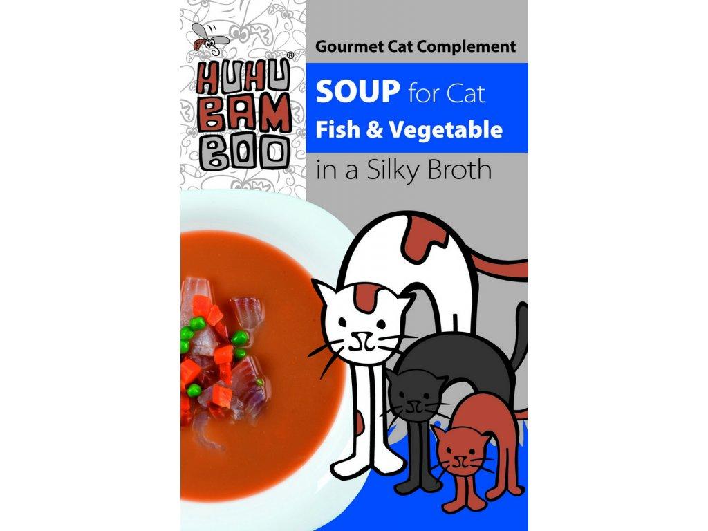 Huhubamboo polévka tuňák+zelenina pro kočky 40g
