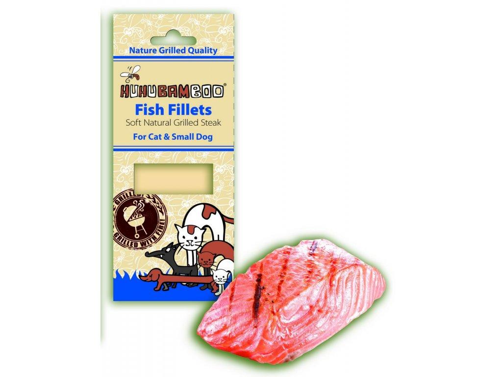 Huhubamboo grilovaný steak rybí pro psy 30g