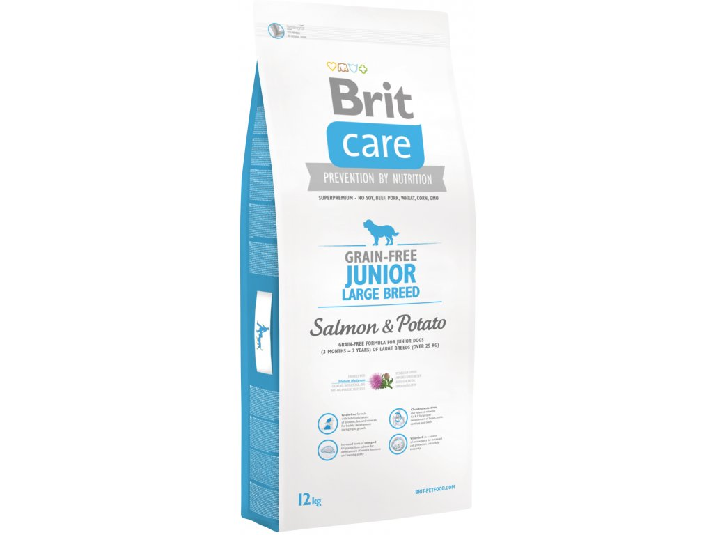 Brit Care Grain Free Junior Large Breed Salmon & Potato 12kg