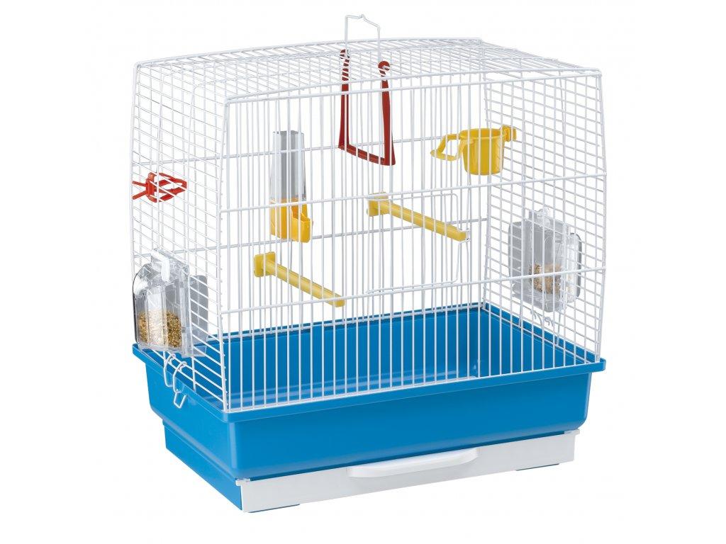 Ferplast malá klec pro ptáky s výbavou REKORD 2 modrá