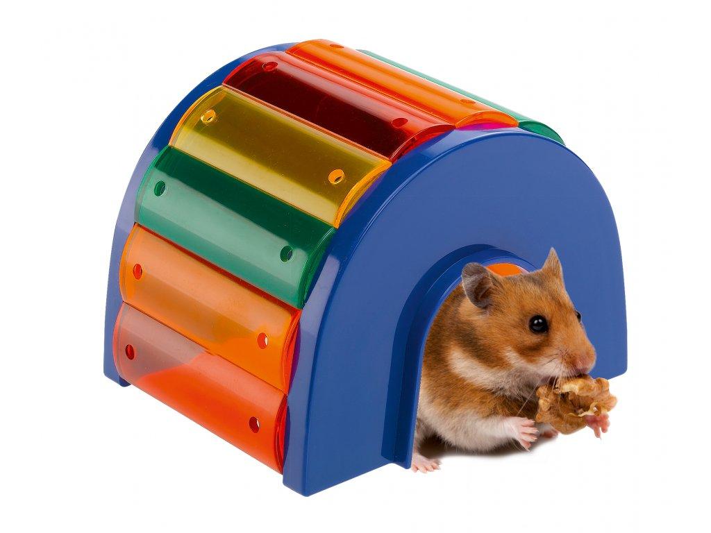 Hračka Ferplast barevný tunel pro křečky