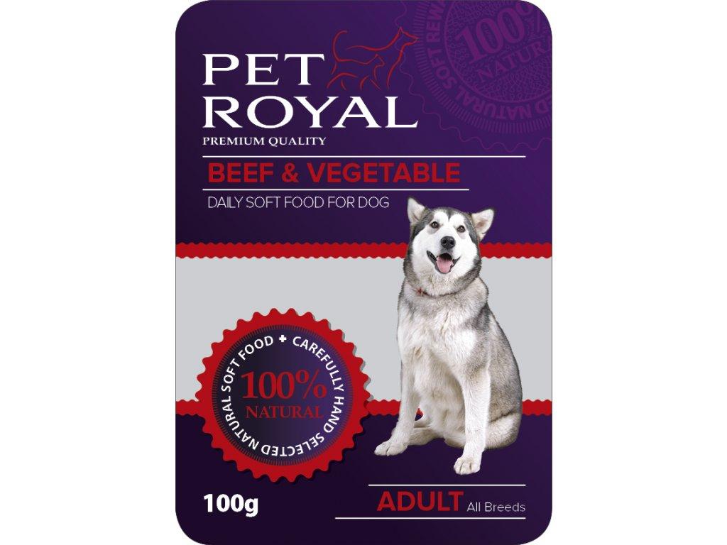 Kapsička Pet Royal Dog hovezi maso+zelenina 100g