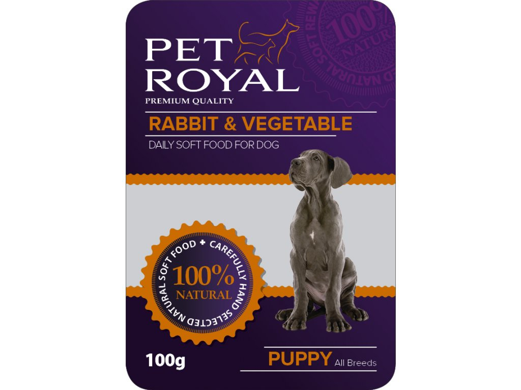 Kapsička Pet Royal Dog kralik+zelenina 100g