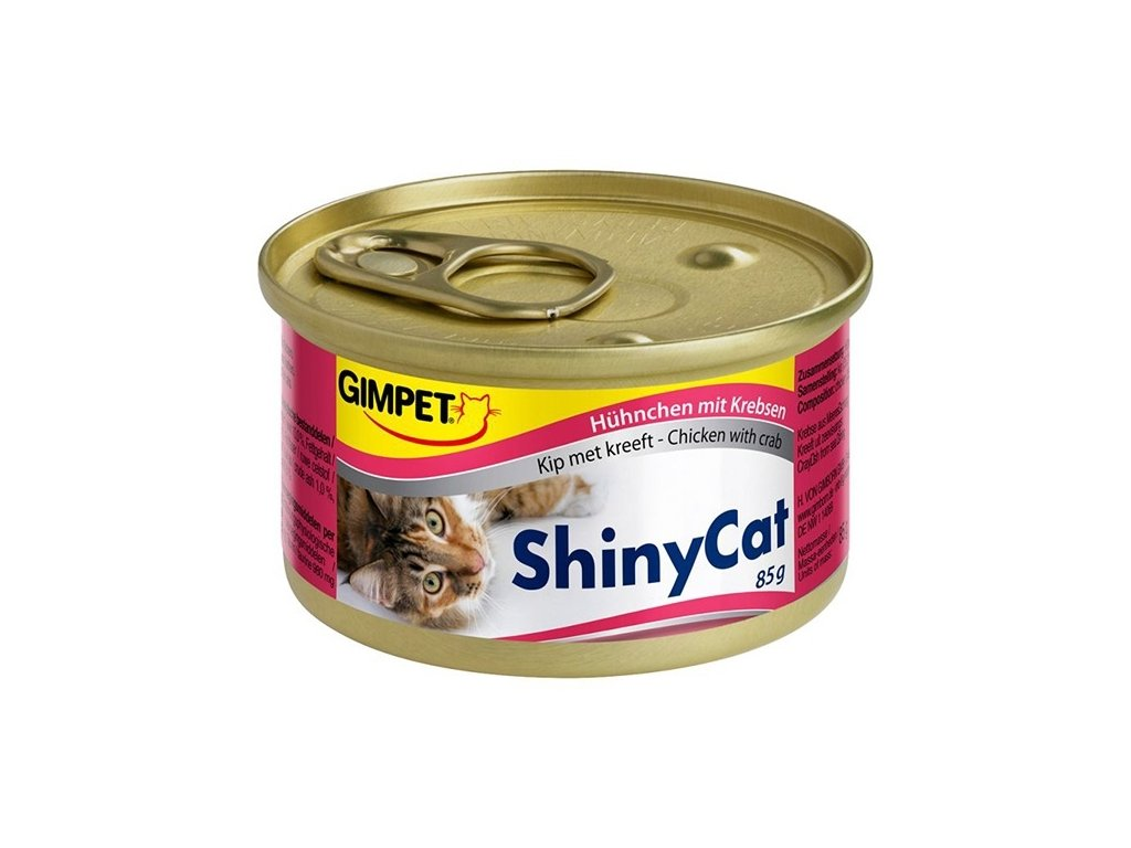 Konzerva SHINY CAT kuře+krab 70g