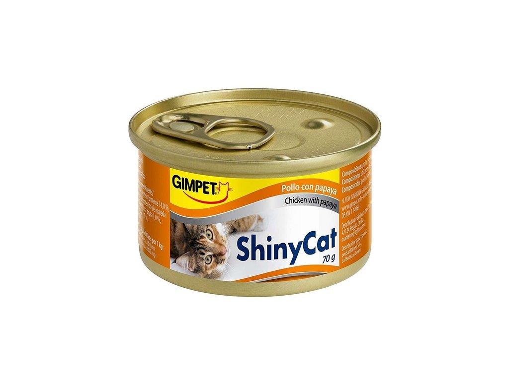 ShinyCat konzerva kuře+papaja 70g