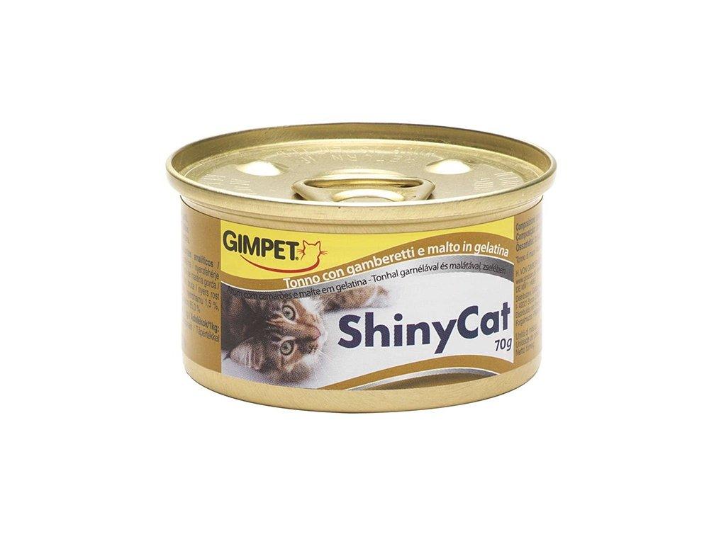 Konzerva ShinyCat tuňák + kreveta + maltóza, 70 g