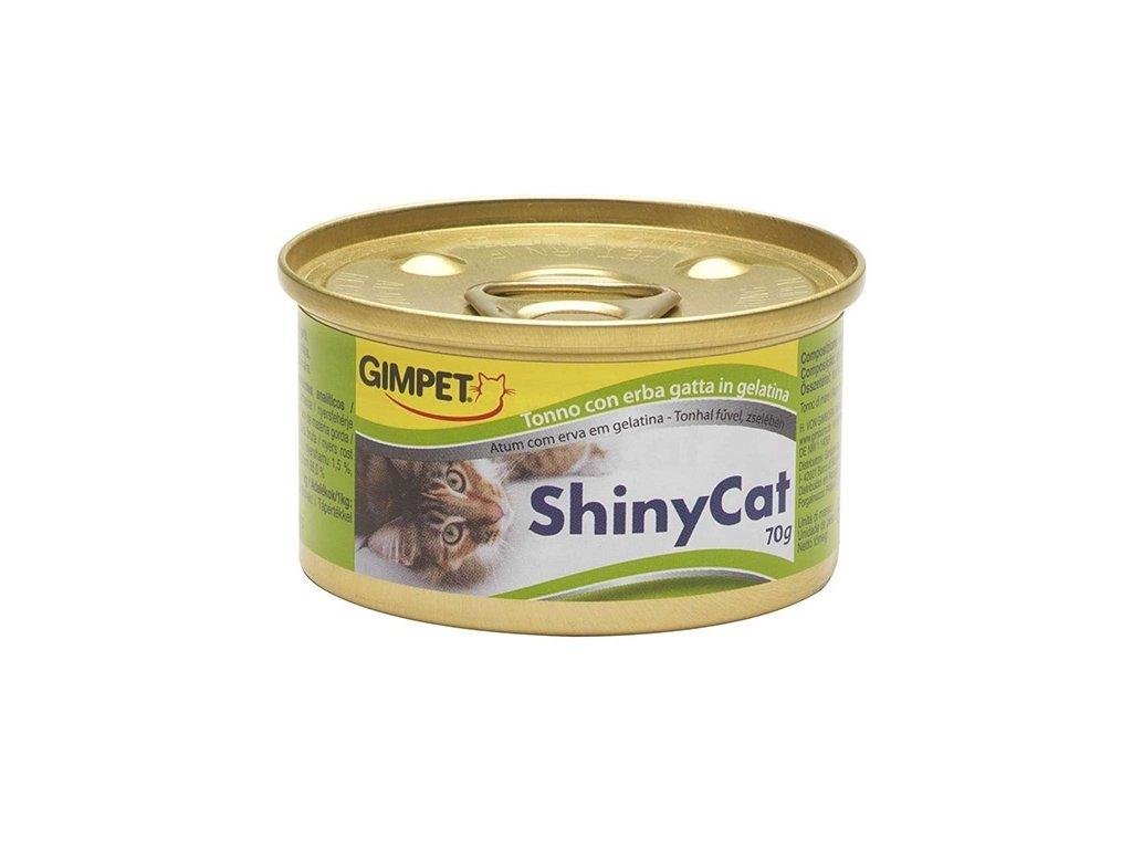 Konzerva SHINY CAT tuňák+sýr 70g