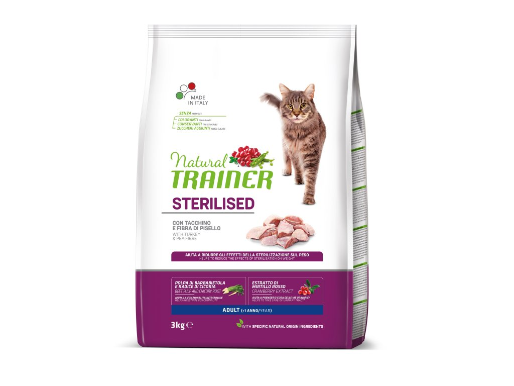 TRAINER Natural Cat Sterilised drůbeží maso 3kg