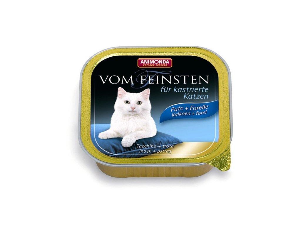 Animonda Vom Feinsten paštika pro kastrované kočky krůta+pstruh 100g