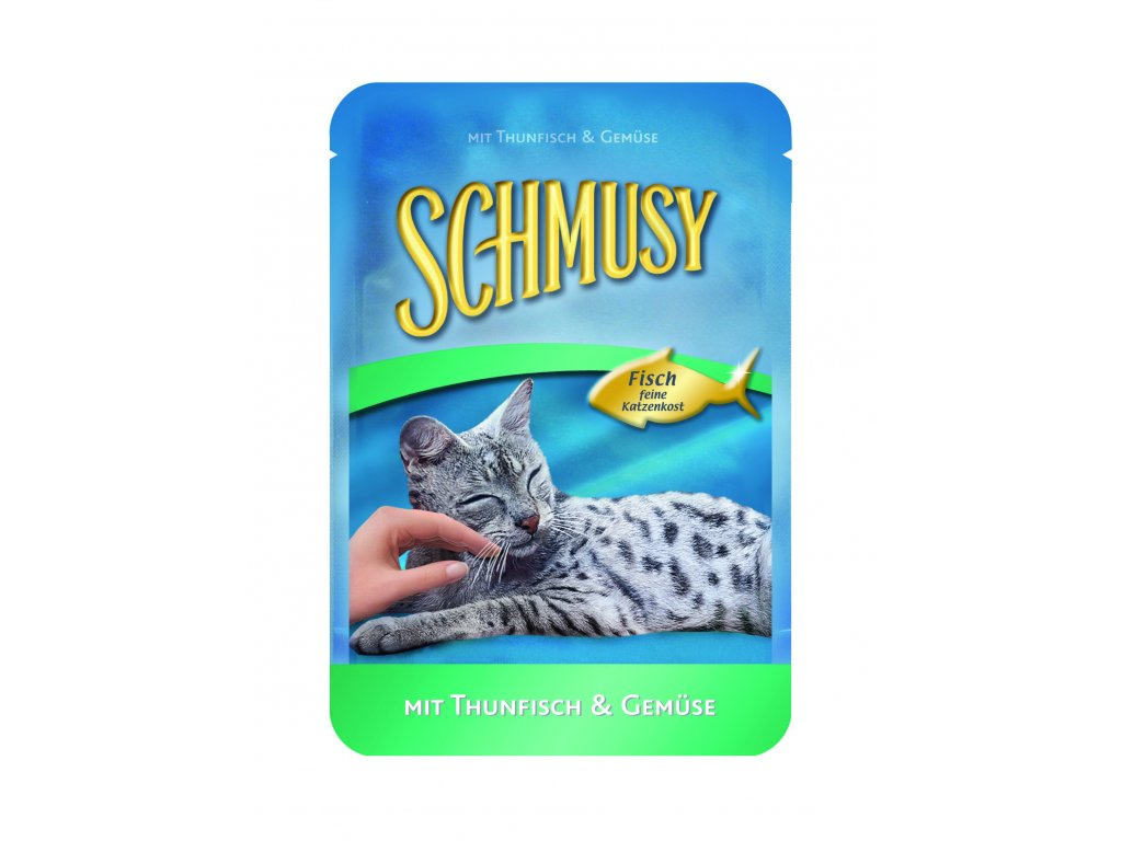 Finnern Schmusy Fish tuňák+zelenina kapsička 100g