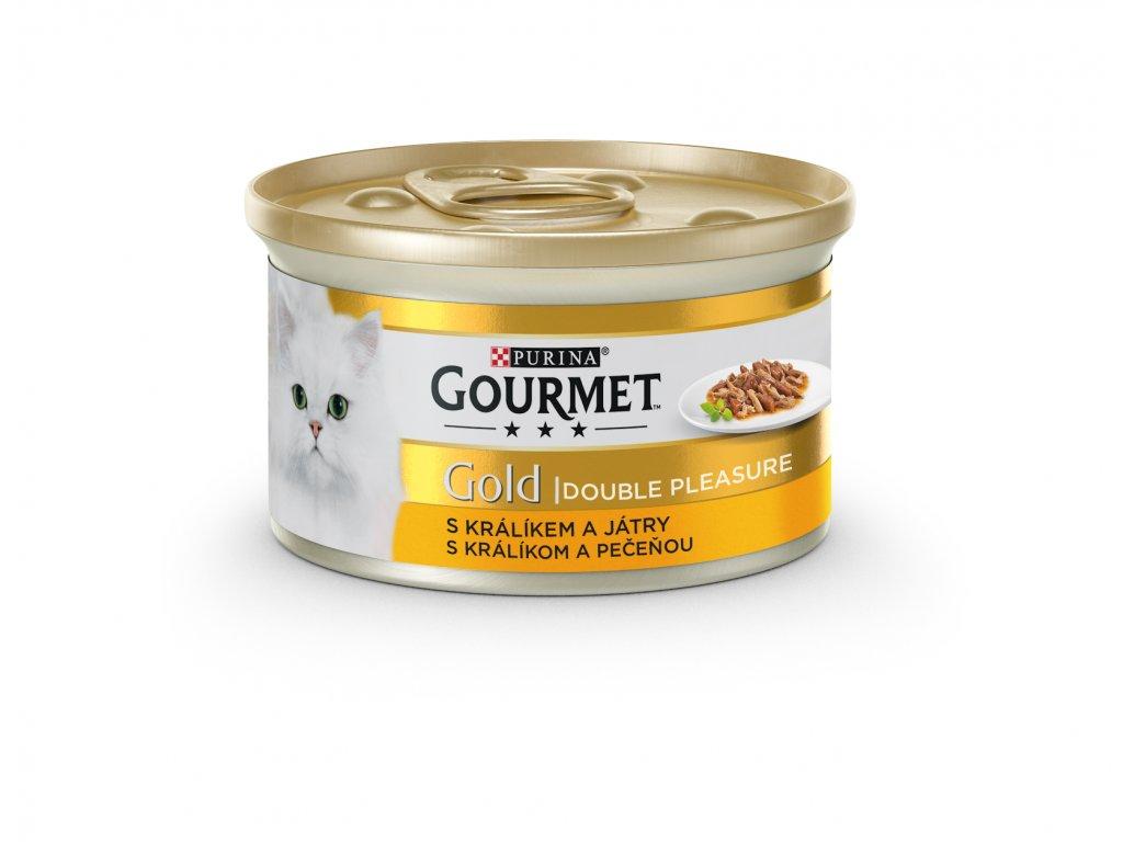 Konzerva Gourmet Gold králík+játra 85g
