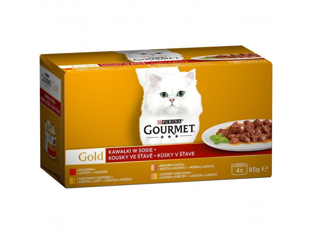 Konzerva Gourmet Gold ve šťávě (4x 85g)