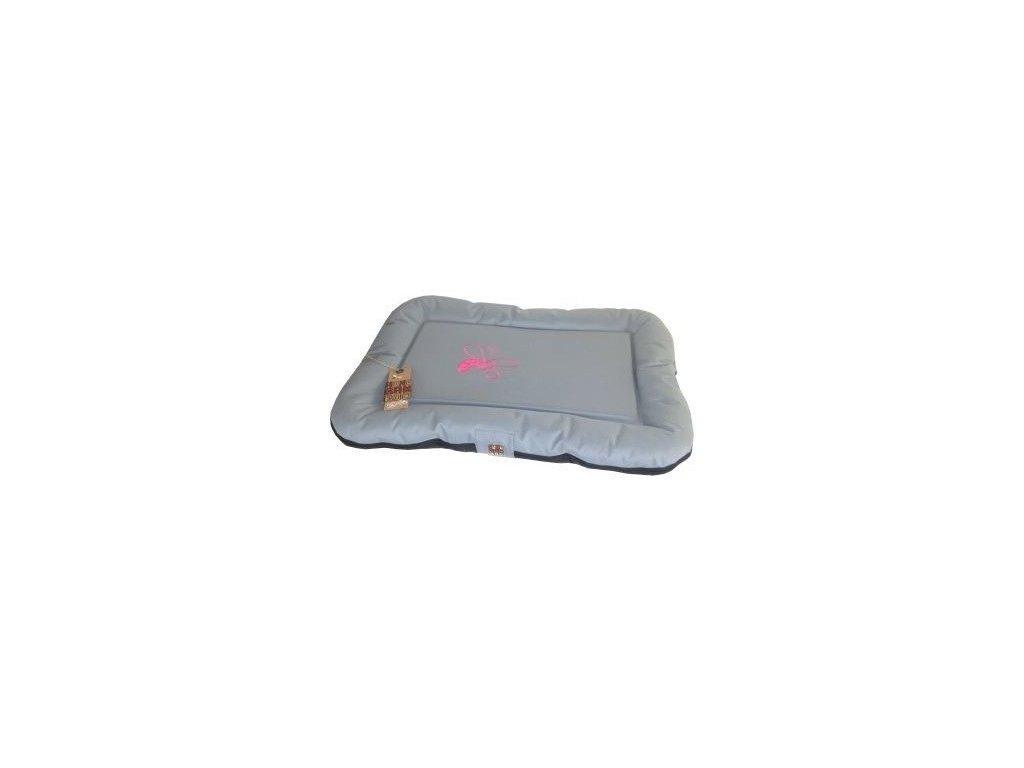 Polštář Huhubamboo šedá růžová 110x80cm