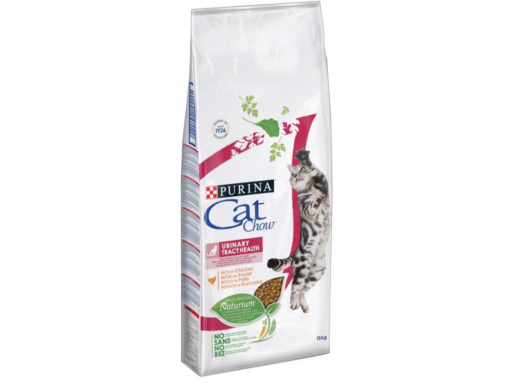 Purina Cat Chow Urinary Tract Health s vysokým podílem kuřete 15kg