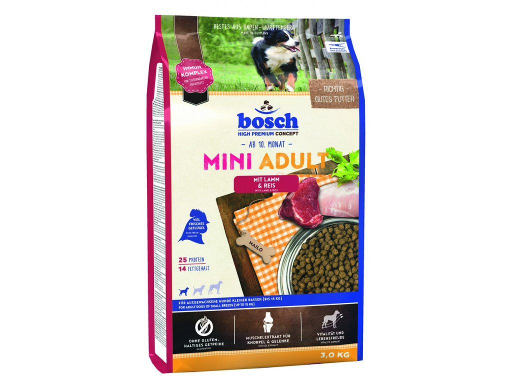 BOSCH HPC Mini Adult Lamb&Rice 3kg