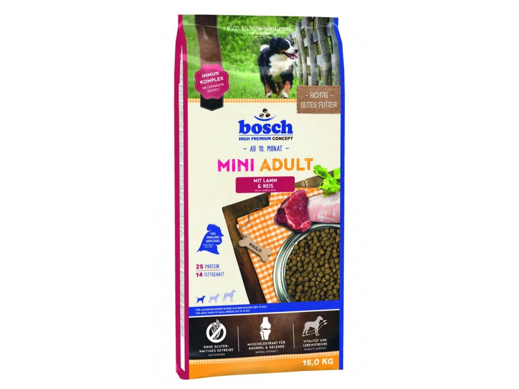 BOSCH HPC Mini Adult Lamb&Rice 15kg