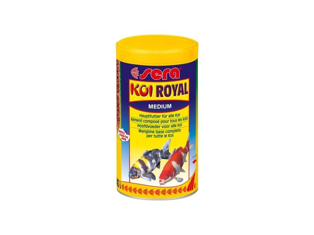 Sera základníé krmivo pro koi a iostatní jezírkové ryby Koi Royal Medium 1000ml