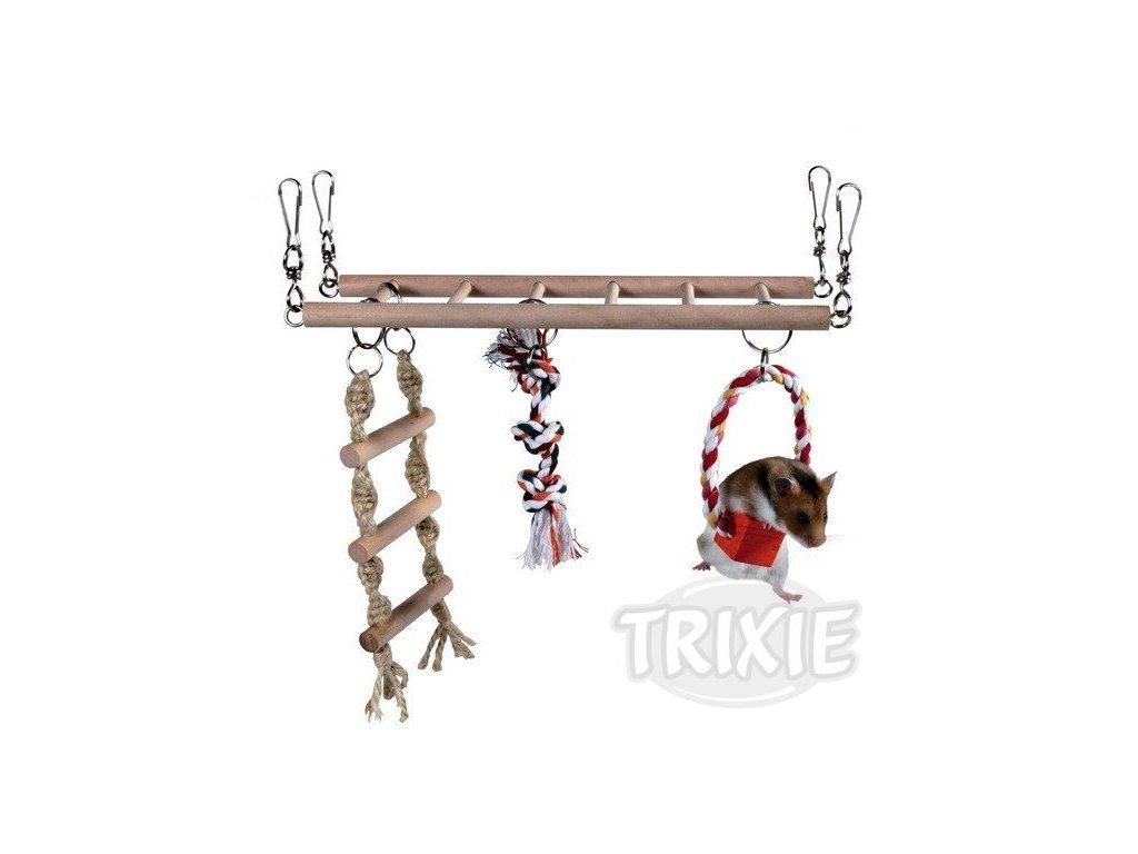 Trixie Houpačka do klece + kruh, žebřík, trojuzel 29x25x9cm