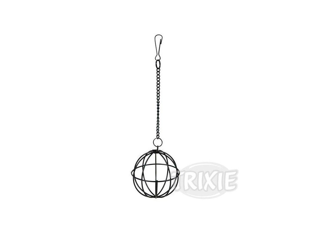 Trixie Kovový závěsný míč na potravu 8cm