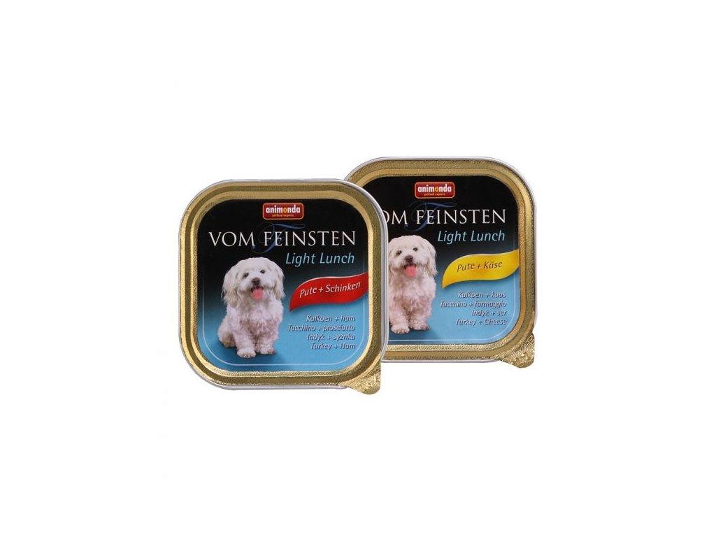 Animonda Vom Feinsten Light Lunch paštika pro psy krůta+šunka 150g