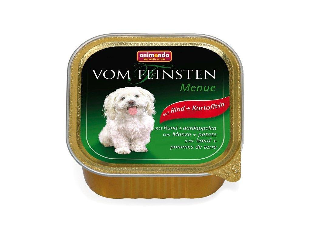 Animonda Vom Feinsten Menue paštika pro psy hovězí+brambory 150g
